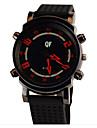 Hommes Suivre Quartz Montre de Sport Chronographe Silikon Bande Bracelet Montre