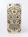 For iPhone 5 Case Ultra-thin / Transparent / Pattern Case Back Cover Case Skull Soft TPU iPhone SE/5s/5