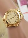 Мужской Женские Для пары Модные часы швейцарцы Оригинальный рисунок Кварцевый сплав Группа Золотистый