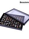 כיסוי תכשיטים קלאסי נחמד אגף מערכות מאה לעמוד קופסות תכשיטי אקריליק ססגוניות (1 PC) (שחור, לבן)