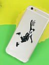 motif de basket TPU etui transparent de telephone souple pour iPhone 6 / 6s
