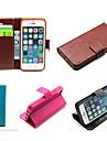 cuir PU cas solide carte de couleur fente de porte-monnaie avec des cas support complet du corps pour iphone 5