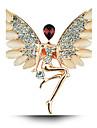 Ангел кристалл опала брошь крылья