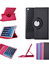 For Case Cover with Stand Auto Sleep / Wake 360° Rotation Origami Full Body Case Solid Color PU Leather for iPad Air 2