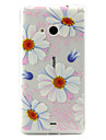 For Nokia Case Transparent Case Back Cover Case Flower Soft TPU Nokia Nokia Lumia 535