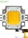 10w 900LM branco / branco morno 3000k / 6000k alta brilhante LED chipe lampada dc 32-35v