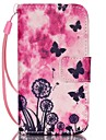 Butterfly Pattern PU Leather Material Flip Card Phone Case for iPhone 4/4S