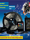 5M 300Pcs of High Brightness SMD5050 LED 20 Keys Seven Sound Colors LED Remote Control RGB Strips IP44