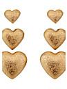 Серьги-гвоздики Сплав Сердце Простой стиль В форме сердца Серебряный Золотой Бижутерия Для вечеринок Повседневные 1 комплект