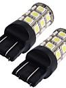 2 * машина 7443 7440 T20 лампы хвост тормоза лампочки 5050SMD белые 27 привело свет 12v 2,5 Вт 250LM