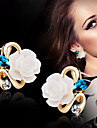 Earring Flower Stud Earrings Jewelry Women Wedding / Party / Daily Alloy 2pcs