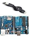 UNO R3 модуль доска + Ethernet модуль щит W5100 для Arduino - синий