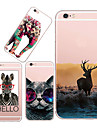 For iPhone 5 Case Ultra-thin / Pattern Case Back Cover Case Animal Soft TPU iPhone SE/5s/5