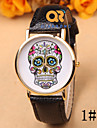 Fashion Printed Leather Belt Printing Skull Geneva Watch Fashion Male Table Pointer Wrist Watch Cool Watch Unique Watch