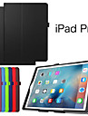 Litchi Flip PU Leather Smart Magnetic Open Close Sleep Wake Up Case For iPad Pro  (Assorted Colors)