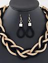 Bijoux Colliers decoratifs Boucles d\'oreille Mariage Soiree Quotidien Decontracte Alliage 1set FemmeDore Noir Argent Rouge Bleu Brun