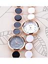 Женские Модные часы Часы-браслет Повседневные часы Кварцевый Группа Элегантные часы Черный Белый