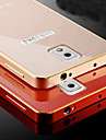 For Samsung Galaxy Note Plating Case Back Cover Case Solid Color Metal Samsung Note 4 / Note 3