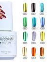 YeManNvYou®12 Colors Soak off Metal Color UV Gel Polish No.1-12(5ml)