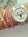Women Watches Kitty Watch Cat Watch Vintage Leather Watch Jewelry Handmade Bracelet Wrist Watch Cool Watches Unique Watches Fashion Watch Strap Watch