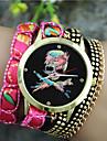 Dames Modieus horloge Kwarts Stof Band Zwart / Wit / Blauw / Orange / Paars / roze Merk-
