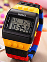 Unisex Digital LCD Colorful Block Brick Style Wristwatch Wrist Watch Cool Watch Unique Watch Fashion Watch