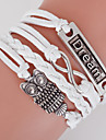Multilayer Owl& Dream & 8 Weave Bracelet,White inspirational bracelets Christmas Gifts