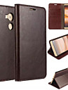 For Huawei Case / Mate 8 Wallet / Card Holder / with Stand / Flip Case Full Body Case Solid Color Hard Genuine Leather HuaweiHuawei Mate