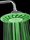 8 Inch A Grade ABS Chrome Finish LED Rain Shower Head Colorful Changing Shower Head