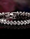S925 Pure Stering Silver AAA Zircon ROME Bracelet,Fine Jewelry (length:17.5cm)Imitation Diamond Birthstone