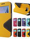 Fuer Samsung Galaxy Note7 Kreditkartenfaecher / mit Halterung / Flipbare Huelle Huelle Handyhuelle fuer das ganze Handy Huelle Einheitliche Farbe