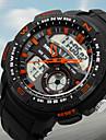 Da uomo Orologio sportivo Quarzo giapponeseLCD / Calendario / Cronografo / Resistente all\acqua / Due fusi orari / allarme / Orologio