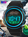 Men's Solar Battery LCD Digital Sport Watch Fashion Sporty Stopwatch Cool Watch Unique Watch