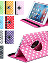 360 rotation impression de luxe a pois etui en cuir PU pour Apple iPad mini-tablettes 3/2/1 cas Smart Cover flip avec support