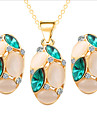 MISSING U Women Cute / Party Rose Gold Plated / Gemstone & Crystal / Cubic Zirconia Necklace / Earrings Jewelry Sets