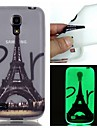 For Samsung Galaxy Case Glow in the Dark Case Back Cover Case Eiffel Tower TPU Samsung S6 edge plus / S6 / S5 / S4 Mini / S3