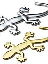 ziqiao 3d чистого металла геккон наклейки личность наклейка украшение автомобиля
