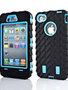 2 in 1 Armor Robot Style PC ja Sillcone Composite kotelo iPhone 4/4S (Assorted Colors)