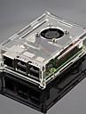 прозрачный акриловый оболочка может быть установлен вентилятором и три плавники Raspberry Pi Raspberry Pi 2b / 1b +