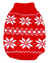 Dog Sweater Red Dog Clothes Winter / Spring/Fall Snowflake Keep Warm / Christmas / New Year\'s