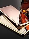 kx versao ouro marca armacao de metal acrilico toda espelho backplane de metal duro para o iPhone 6s 6 mais