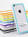 DF Dual Color Middle Transparent TPU Soft Bumper for iPhone 5C (Assorted Color)