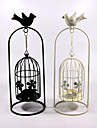 Valentine\'S Day Creative Storm Lantern Crafts And Gifts Furnishing Articles Bird Cages Hanging, Wrought Iron Candlestick