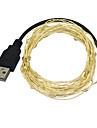 JIAWEN USB 5M Waterproof Flexible 3W 240lm  LED String Light - Silver (DC 12V)