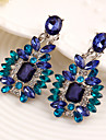 Drop Earrings Gemstone Cubic Zirconia Alloy Luxury Jewelry Blue Jewelry 2pcs