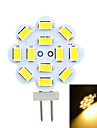 G4 3W 12-SMD 5730 300lm 3500k/6500k Warm/Cool White LED Lamp (AC 12V)