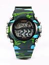 Дети Спортивные часы Кварцевый LED Спортивные часы Plastic Группа Черный Синий Зеленый Розовый Желтый