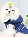 Σκυλιά Παλτά / Jachete Denim Μπλε Ρούχα για σκύλους Χειμώνας / Άνοιξη/Χειμώνας Τζιν Μοντέρνα / Διατηρείτε Ζεστό