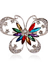 Alloy/Silver Plated/Rhinestone Brooch/Women Fashion Butterfly Brooch/Wedding/Party/Casual 1pc