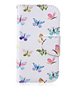 For Samsung Galaxy Case Wallet / Card Holder / with Stand / Flip Case Full Body Case Butterfly PU Leather SamsungS6 edge plus / S6 edge /